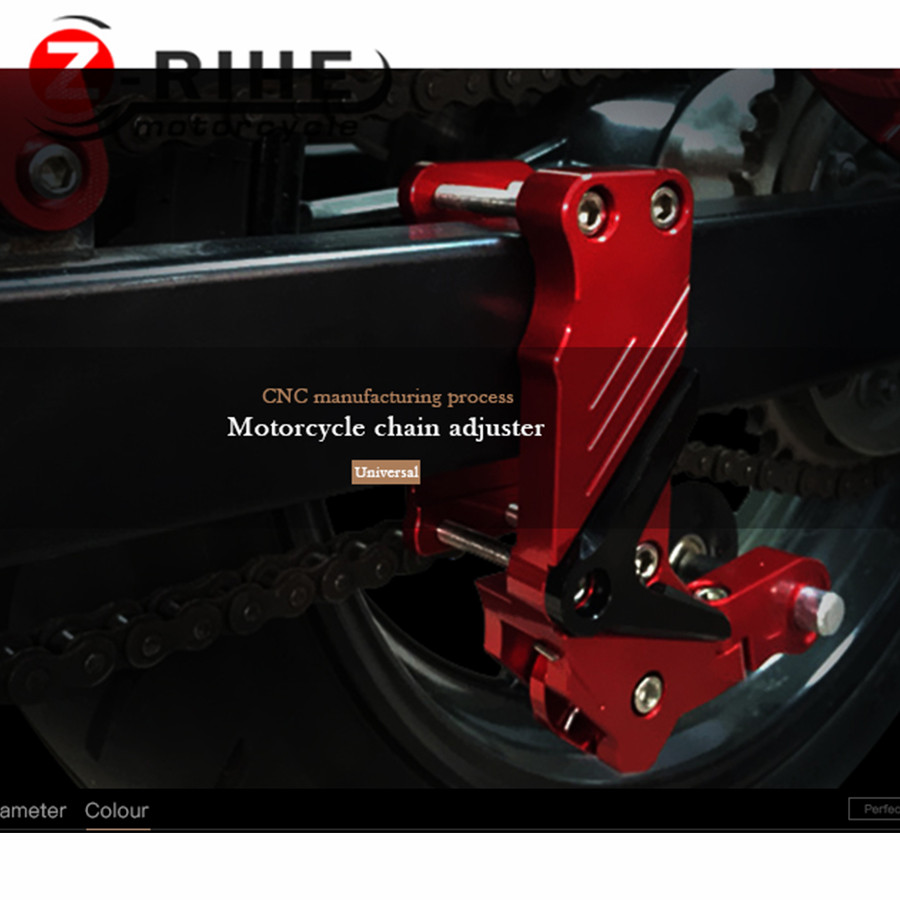 Universal Motorcycle Rear Axle Spindle Chain Adjuster Blocks chain adjuster tensioners For ktm yamaha r1 ninja 300 motocross R3 fit for kawasaki z900 z 900 2017 motorcycle cnc aluminum rear axle spindle chain adjuster blocks and spool sliders