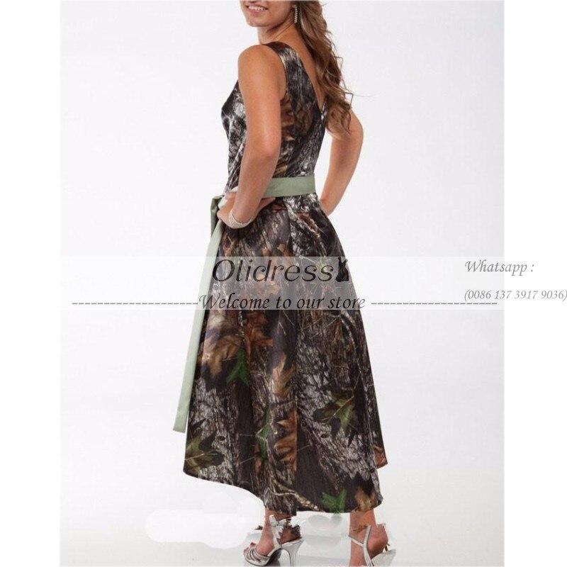 Camo Tea Length Dress