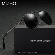 fd2090c43d MIZHO caliente elástico de la pierna de apoyo clásico de gafas de sol de  Metal para hombres polarizados UV400 Protector conducto.
