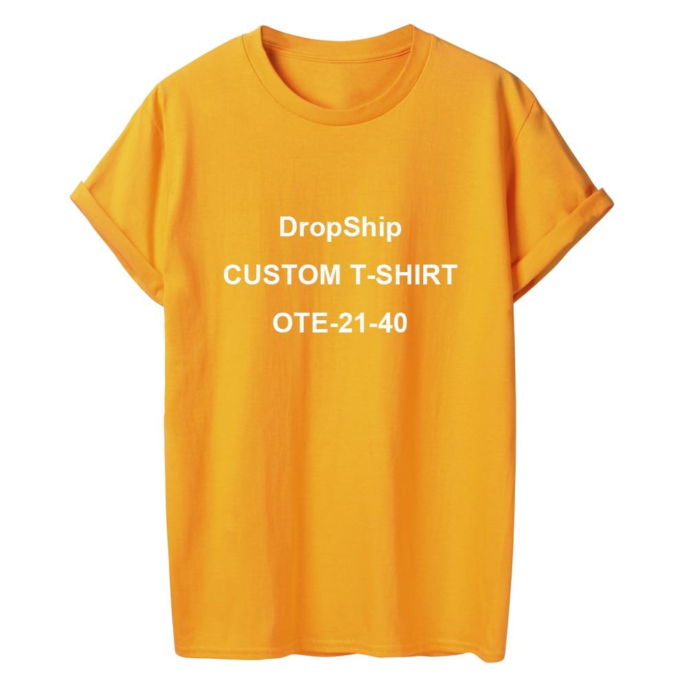 ONSEME T Personalizado Camisa de Manga Curta T Shirts DropShipping DIY Tees Camiseta Básica OTE-21-40