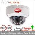 Câmera ip hikvision original inglês ds-2cd2132f-is 3mp câmera dome ip poe câmeras áudio apoio atualização substituir ds-2cd2135f-is