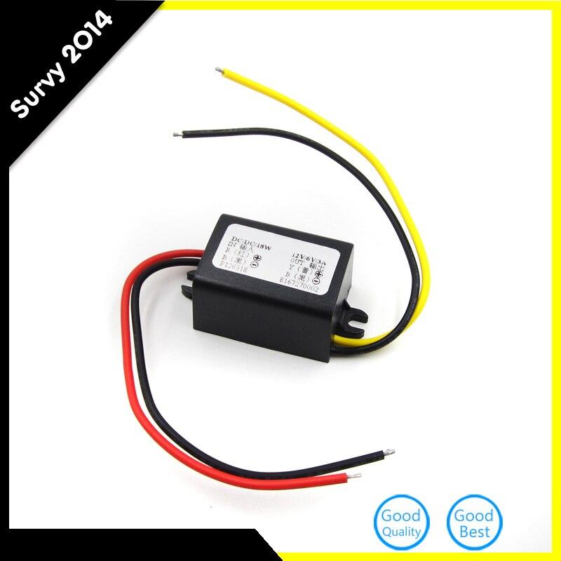 Преобразователь постоянного тока 12 В понижающий до 6 в 18 Вт макс. водонепроницаемый источник питания 3 А