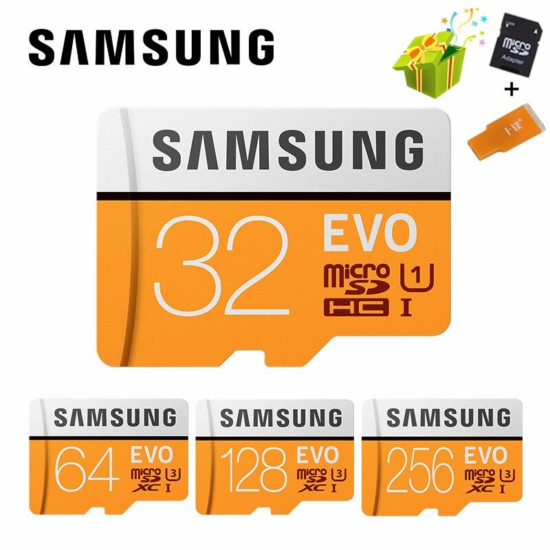 SAMSUNG Cartão Microsd 256G 128GB GB 100 Mb/s 64 Class10 U3 32GB 95 Mb/s U1 SDXC Classe EVO Cartão Micro SD Cartão de Memória TF Cartão de Memória Flash