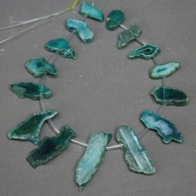 Wholesale 13pcs Green Dyed Color Drusy Agate Pendant Druzy Geode Jewelry Making Natural Agate Slice Pendant Necklace accessories