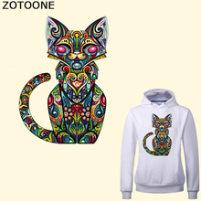 ZOTOONE Cat Patch Iron on Transfers for Clothing DIY T-shirt Washable Heat Transfer Vinyl Stickers for Clothes Thermal Press цены