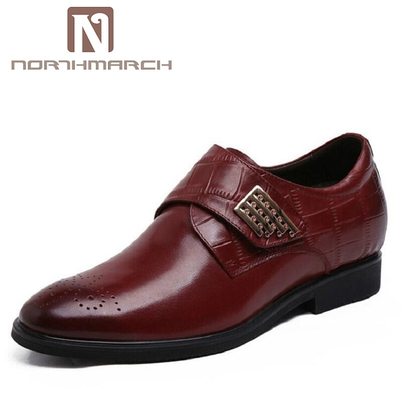 NORTHMARCH Luxury Brand Genuine Leather Formal Dress Men Shoes Buckle Straps Comfort Wedding Brogues Shoes Schuhe HerrenNORTHMARCH Luxury Brand Genuine Leather Formal Dress Men Shoes Buckle Straps Comfort Wedding Brogues Shoes Schuhe Herren