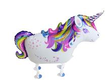 100pcs walking Unicorn baloons helium foil ballons for birthday party decorations kids unicorn Party balloons Suppliers цена и фото