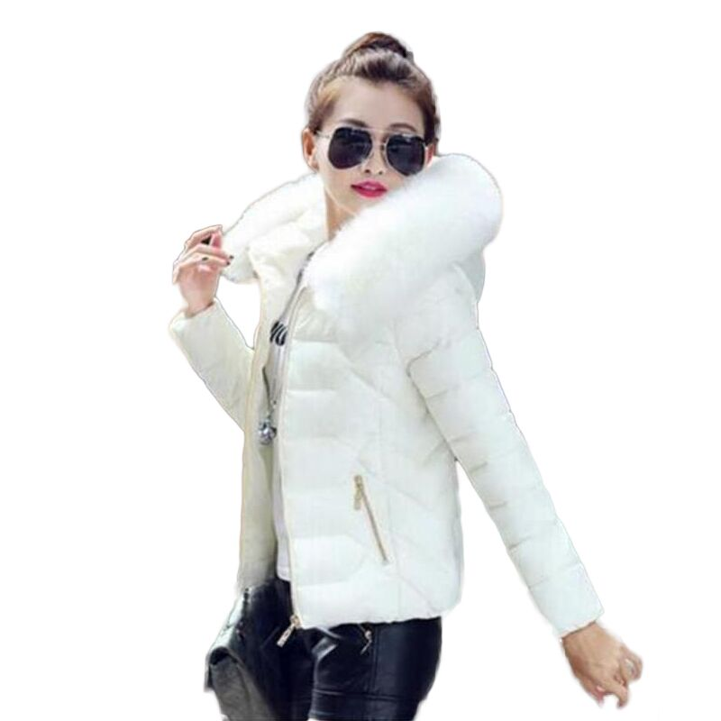 2016 Newest Parkas For Women Winter Coats Faux Fur Collar Hooded Down Cotton Slim Warm Jacket Womens Winter Jackets And Coats