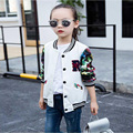 2017 New spring girl jacket, printing fashion girl jacket, comfortable leisure girl jacket, jacket sports girl