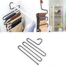 1 stück Praktische Mehrzweck 5 Schichten Hosenaufhänger Hosen Tie Rack Platzsparende Kostenloser Versand