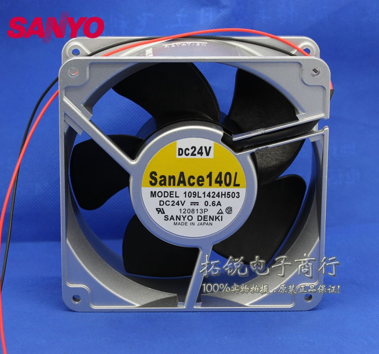 все цены на  SANYO  New and original 109L1424H503 14050 14CM 24V 0.6A Axial fan aluminum frame  140*140*50mm  онлайн