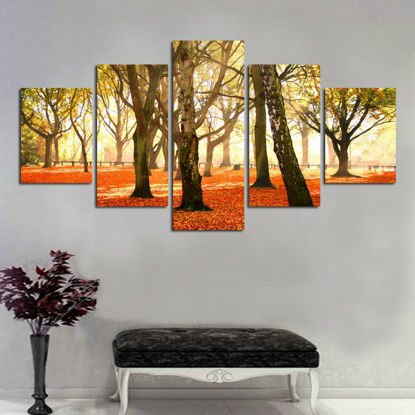 Tree Landscape Canvas Oil Painting Picture Home Decor Modular Wall Picture For Living Room No Frame Modern Prints