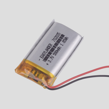 702035 3.7V 500mAh Rechargeable li Polymer Li-ion Battery For mp3 mp4 gps PDA speaker DVR small toys smart watch 072035 image