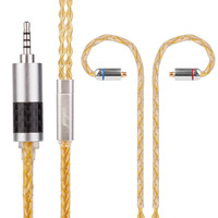 Yinyoo 8 Core Silver Plated Yellow Cable 2 5 3 5 4 4mm Balanced Earphone Upgrade