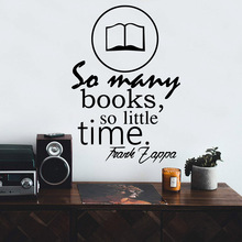New Design so many books so little time Decal Removable Vinyl Mural Poster For Living Room Bedroom Waterproof Wall Art Decal books for living