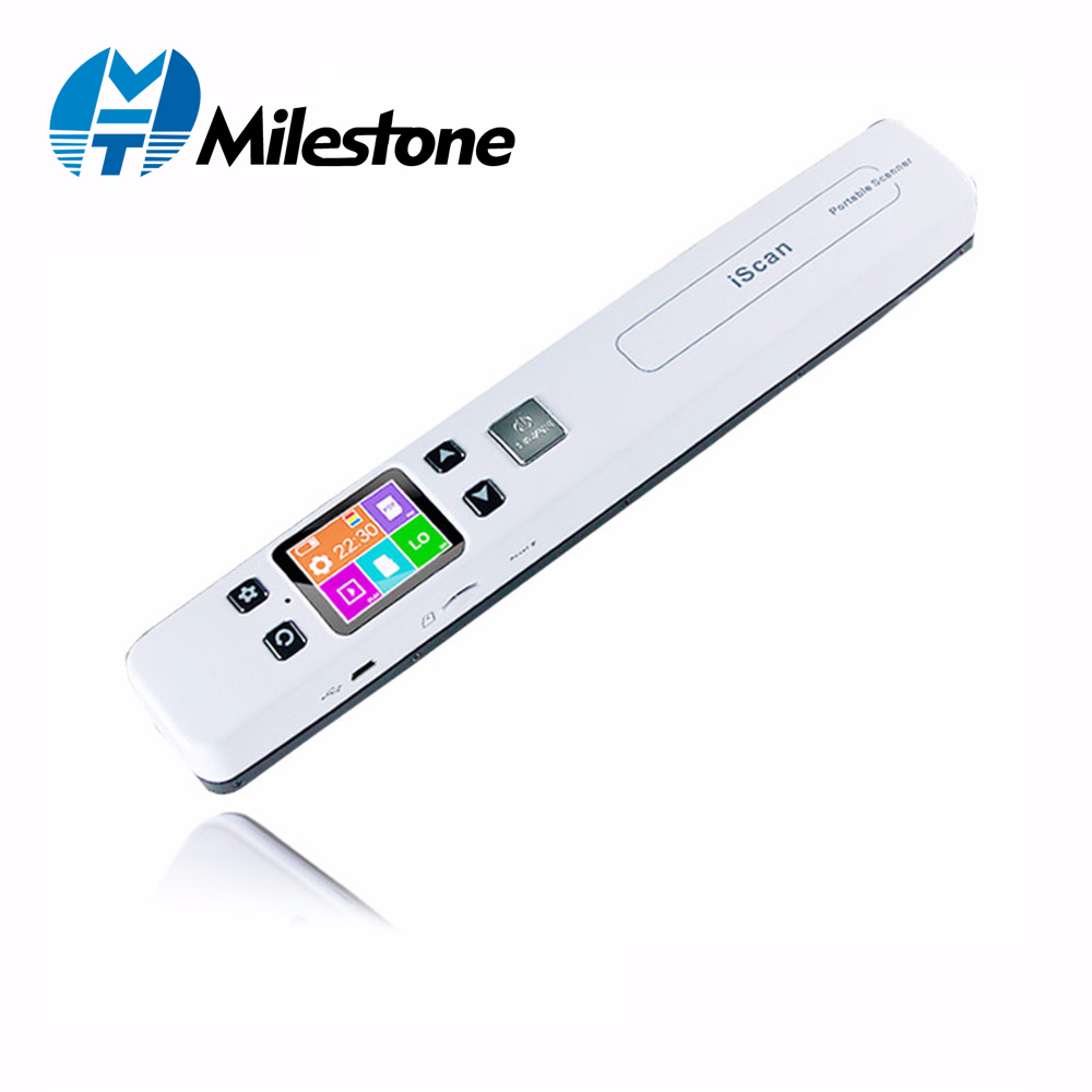 Milestone Document Scanner Photo Fine Resolution 1050DPI Portable Scanner Connected With JPG/PDF File Format IScan02Milestone Document Scanner Photo Fine Resolution 1050DPI Portable Scanner Connected With JPG/PDF File Format IScan02
