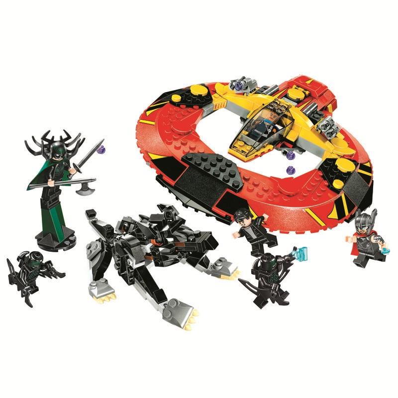 Batman DC Comics 10747 Bela Compatible Legoe Super Heroes Building Blocks kids Bricks Toys Ultimate Battle for Asgard Marvel ultimate comics new ultimates thor reborn