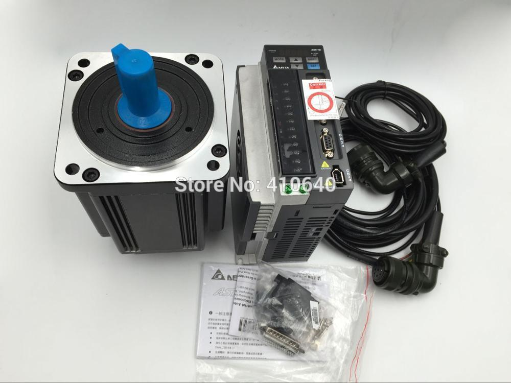 Set Sales 1.5kw Delta 1500 W Servo Motor ECMA-E21315RS And Drive ASD-B2-1521-B with Cable with 3000 rpm genuine delta 400 w servo motor ecma c20604rs and servo drive asd b2 0421 b with full set of cable better quality