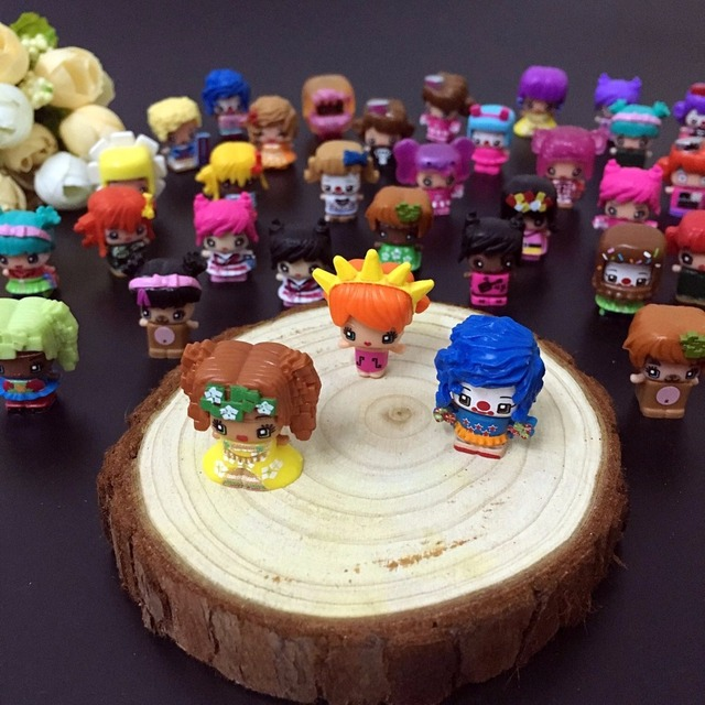 HOT MMMQ's My Mini Mixie Q's  Anime Dolls Mixieq's Assembling Girl Model Capsule Toys Action Figures mixieqs Gift 50 Pcs/lot