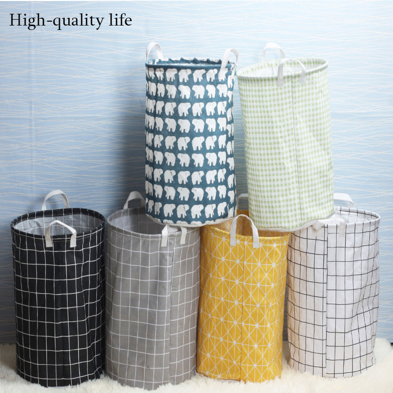 European collapsible multi-style laundry bucket organizer laundry basket storage organizer laundry bag toy storage basket.