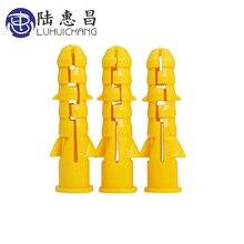 LUHUICHANG – Tube d'expansion en plastique pour cloisons sèches, 200 pièces, M6, M8, M10, jaune