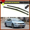 Для VW Volkswagen Passat B5 2002-2005 Автомобиль Bracketless Ветрового Стекла Лобовое Стекло Щетка Стеклоочистителя Авто Мягкие Резиновые Щетки Стеклоочистителей 2 Шт.