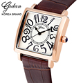 YADAN Women Classic Brand Quartz Watches High Quality Alloy Genuine Leather Watch Business Trend Casual Ultra-thin Wristwatch