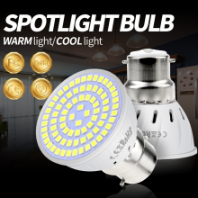 220V Led Lamp E27 Bombillas LED E14 Spotlight Bulb 4W 6W 8W Spot Light Corn GU10 Diode Chandelier Lampada MR16