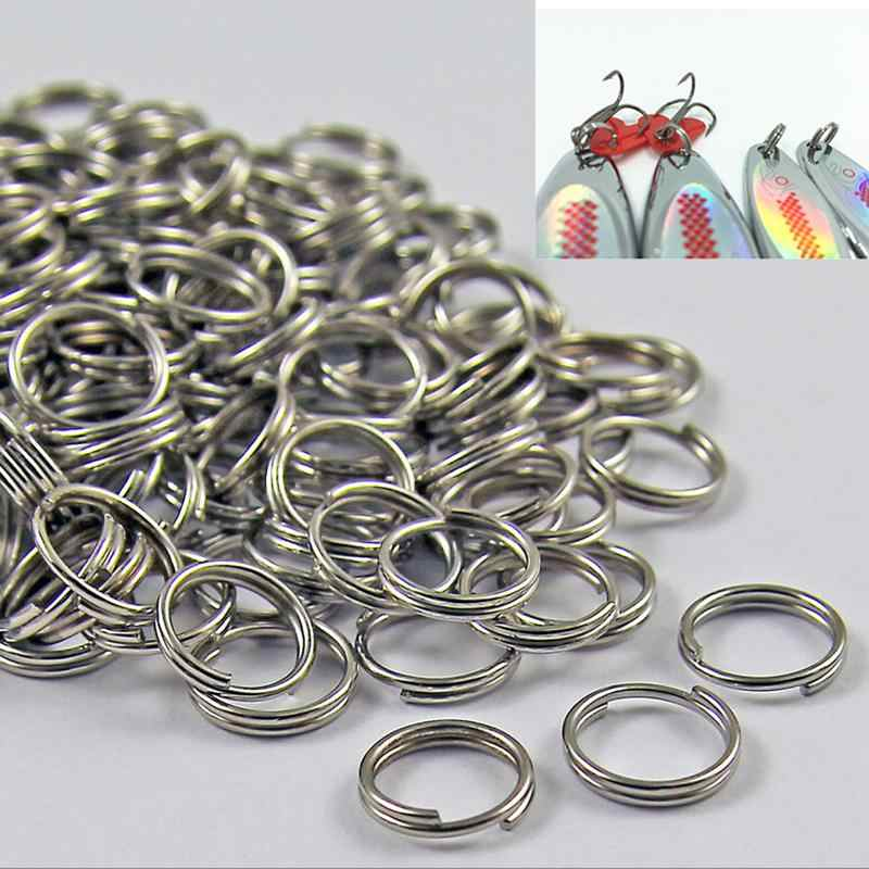 50Pcs 6mm 7mm 8mm Stainless Steel Split Rings for Blank Fishing Lures Crank Bait Hard Bait Fishing Tackle Tools