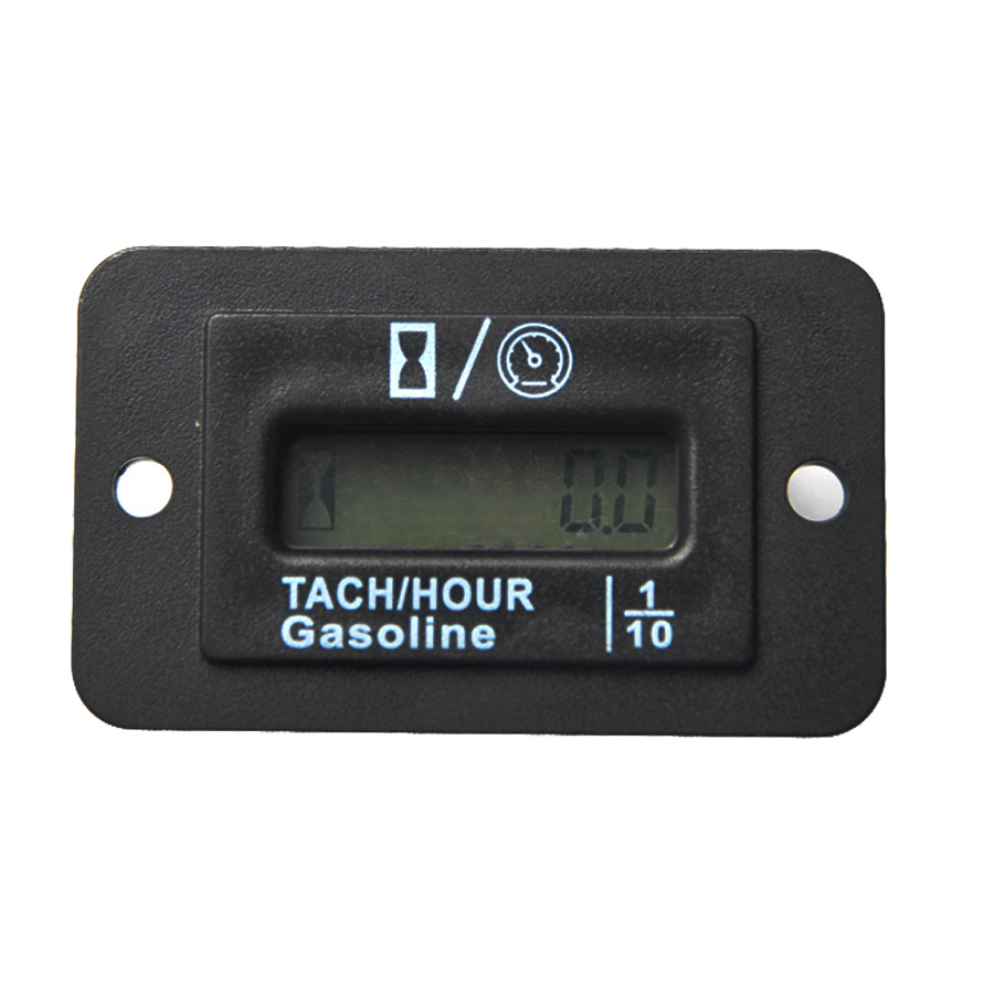 SNAP IN LCD mini Digital backlight Tach Hour Meter Tachometer Gauge for Gas Engine ATV Snowmobile marine lawn mower Boat