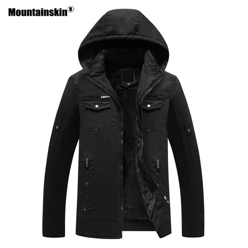 Mountainskin Men Winter Outdoor Thick Fleece Jackets Thermal Plus Size 6XL Windbreaker Hiking Camping Trekking Brand Coat VA344 3 colors 2015 autumn winter men outdoor thermal nap fabric fleece coats thick warm fleece jackets plus size s xxl free shipping