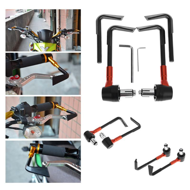 VODOOL 2pcs 7/8in Adjustable Brake Clutch Levers Protector Brush Motorcycle Proguard System Guard CNC Protect Guard universal 7 8 22mm cnc motorcycle handlebar protector guard proguard brake clutch levers protect for ducati monster 696 695 796