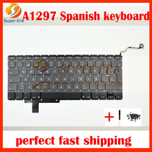 10pcs/lot Genuine for Macbook Pro 17″ A1297 SP SPAIN SPANISH Layout Keyboard Without Backlit Backlight Year 2009 2010 2011