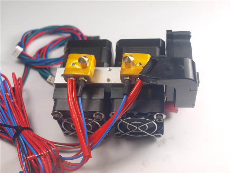 RepRap Replicator 3D Printer dual extruder full kit 1.75 mm 0.4mm extruder assembly setRepRap Replicator 3D Printer dual extruder full kit 1.75 mm 0.4mm extruder assembly set