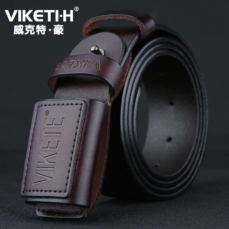 No Metal Over The Door Men's Leather Belt Casual With Jeans Men's Belt