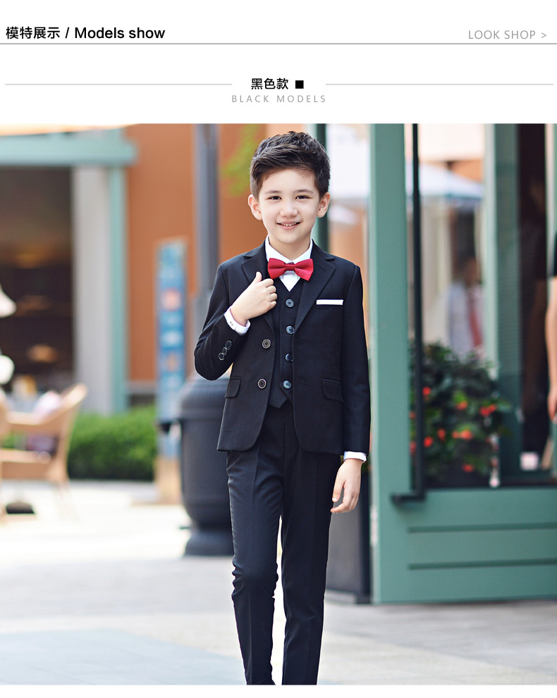 Kids wedding suits for Boys wedding clothes 4pcs set coat pant ...