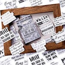 46 teile/paket Retro Englisch zeitung Aufkleber Einfache Mini Papier Aufkleber Dekoration DIY Ablum Tagebuch Scrapbooking Label Aufkleber