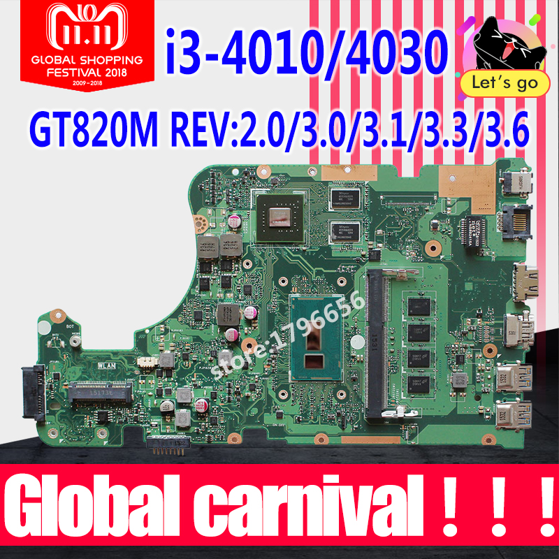 X555LD Motherboard i3 For ASUS X555L X555LP A555L K555L laptop Motherboard X555L X555LJ X555LB X555LI X555LN Mainboard 100% ok 10pcs lot free shipping original high quality for asus x555l a555l v455 x455l series dc jack
