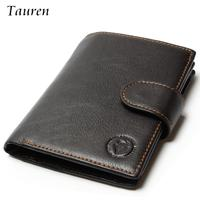 Retro Practical Oil Waxing Leather Travel Wallet Cowhide Genuine Thickening Vintage Men Men S Purse