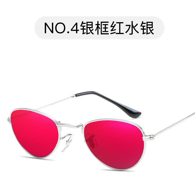 6c019731941b New fashion Luxury Mirror Tinted Color Lens Round Sunglasses Men Women Retro  Metal Frame Eye Vintage