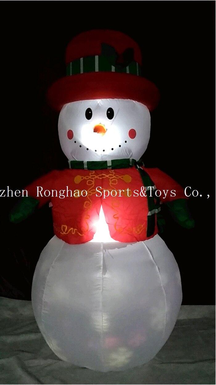 Christmas Airblown Inflatable 6 Snowman Illuminated LED Lighted กระพริบลานกลางแจ้งสนามหญ้าตกแต่งวันหยุด-ใน จี้และเครื่องประดับแบบห้อย จาก บ้านและสวน บน   2