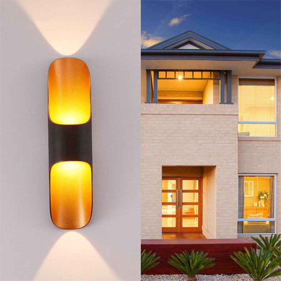 Thrisdar 10W Up Down Outdoor Waterproof LED Porch Wall Light Aluminum Garden Courtyard Aisle Corridor Balcony Villa Wall LampsThrisdar 10W Up Down Outdoor Waterproof LED Porch Wall Light Aluminum Garden Courtyard Aisle Corridor Balcony Villa Wall Lamps