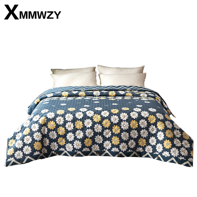 New Flowers Duvet Cover Princess Luxury Quilted Quilt Cover Single Double King ru Europe Family Size 100% Cotton Blanket Covers