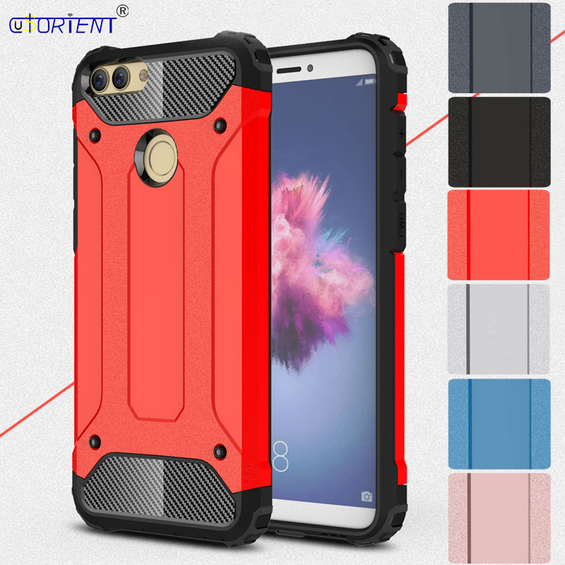 Phone Bumper Fitted Case for Huawei <font><b>P</b></font> <font><b>Smart</b></font> FIG-LX1 FIG-LX2 Case Hybrid Armor Coque Huawei Enjoy 7S FIG-l21 FIG-l22 Back Cover image