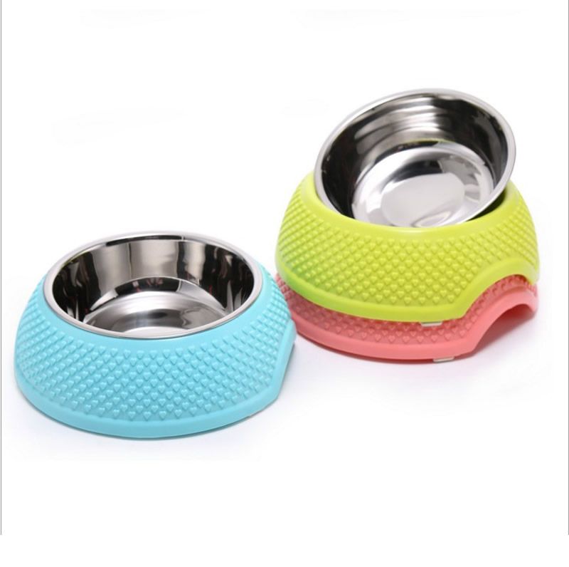 1pcs Dog Feeders Dry Food Cat Bowls for Dogs Bowl Outdoor Drinking Water Pet Dog Cat Bowl Antiskid Edge Dish Feeder Goods H
