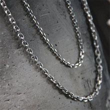 3mm 4mm 45/50/55/60/65/70/75/80cm Wholesale Womens Bulk 925 Sterling Silver Welding Strong Thin Rolo O Link Necklace Chain