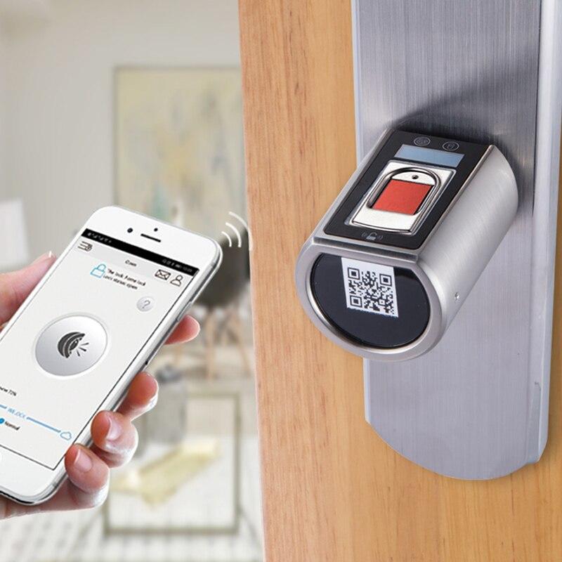 Menor do mundo Fechadura Da Porta Inteligente Bluetooth Inteligente Casa Pequeno Cilindro Do Fechamento de Porta Eletrônico Digital