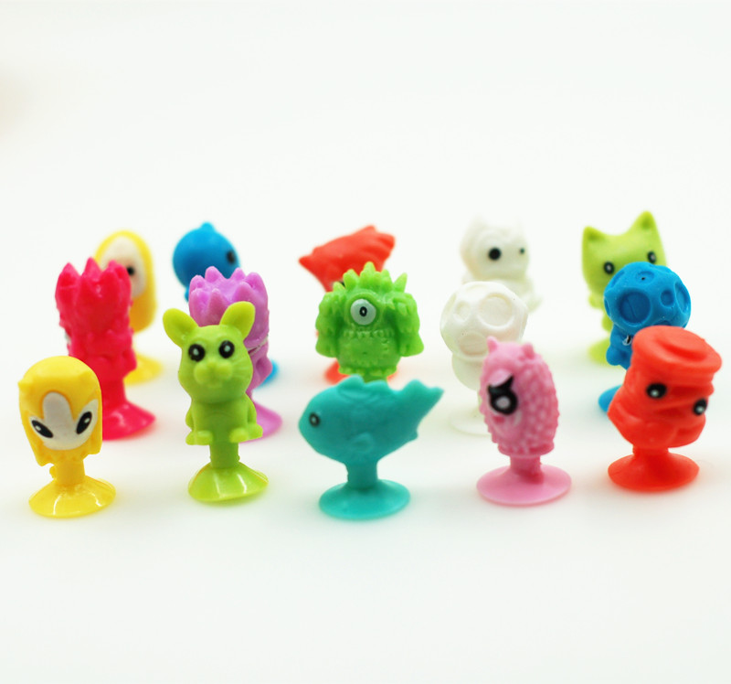 100Pcs Cartoon Animal Action Toys Stikeez Cupule Kids Toys Cup Collector Capsule Model Children Gifts 48pcs lot action figures toy stikeez sucker kids silicon toys minifigures capsule children gift