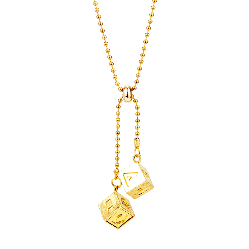 Necklaces & Pendants Strict Dongsheng The Last Jedi Han Solo Lucky Dice Prop Gold Color Smugglers Dice/cube Charm Star Wars Movie Car Jewelry For Men-30 Hot Sale 50-70% OFF