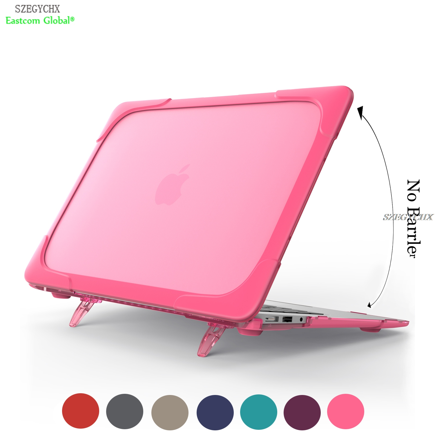 SZEGYCHX Dust Shock Proof Hard Ultra Thin Stand Laptop Cases For Macbook Air 13 Pro 13 15 with Touch bar New Portable Bracket